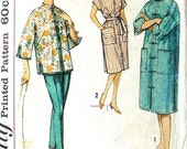 Simplicity vintage pattern 1960 Dress Mandarin Collar Blouse and pants tapered, Chinese Style ...number 4233