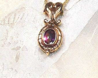 Mystic Topaz Necklace Golden Jeweler's Copper November Birthstone Handmade Jewellery by NorthCoastCottage Jewelry Design & Vintage Treasures