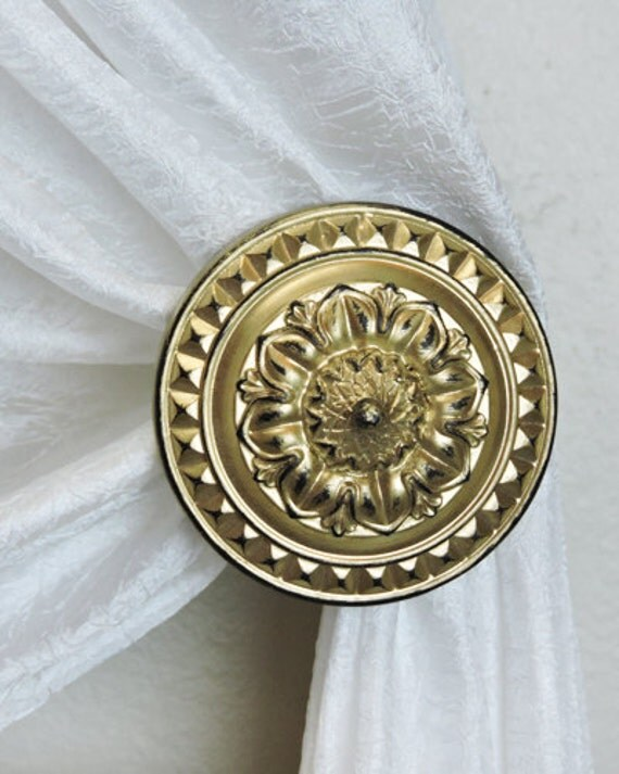 Curtain Tie Backs Holdbacks Set Of Two Gold By Acreativecottage