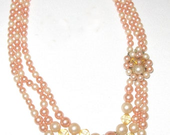 Dress Me Up in Pink Mid-Century Necklace