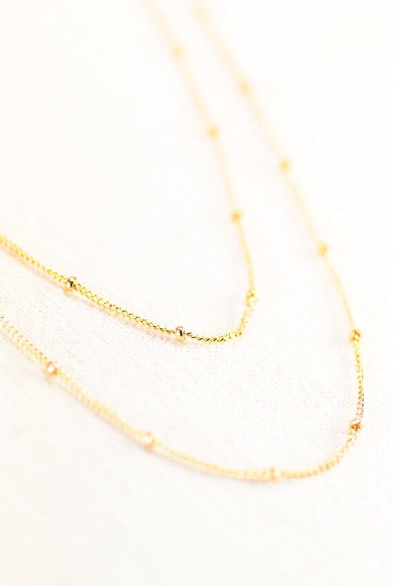 Hoku ala necklace - gold necklace, long gold necklace, delicate gold necklace, gold chain necklace, delicate layering necklace, maui,hawaii