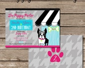 Puppy Party Invitation - Paw-ty Party - Printable File - PDF and JPG