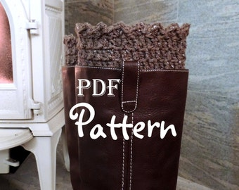 PDF CROCHET PATTERN, Snow Country Boot Cuffs, 2 in 1 Crochet Boot Toppers, Crochet Boot Cuffs,  Digital Download, With Photos