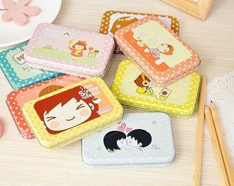 1 Case Korean Stickers - Tin Box Sticker - Girl Sticker - Deco Sticker - Diary Sticker - 12 sheets per case