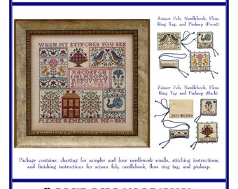 A Sampling in the Square (BRD-086) Cross Stitch Design