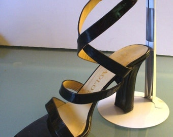 Vintage Made in Italy Maraolo Patent Leather Strappy Heels size 8