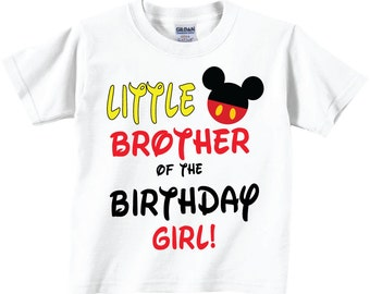 Little Brother of The Birthday Girl Shirts and Tshirts,  Birthday Tees