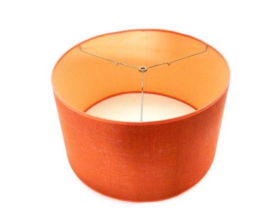 Mid Century Modern Orange Lampshade Large Big By