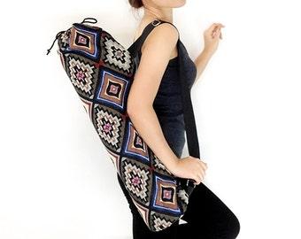 Handmade Yoga Mat Bag Yoga Bag Sports Bags Tote Yoga Sling bag Pilates Bag Pilates Mat Bag Woven Yoga Bag Women bag Woven Cotton bag (WF41)