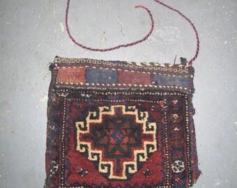 1970s Handmade Balouch Persian Saddlebag (2975)