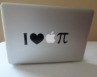 I Love Apple Pie Math Symbol Decal MacBook Pro 13 inch PC Laptop 11 15 17 Decal Sticker USA American As Apple pie