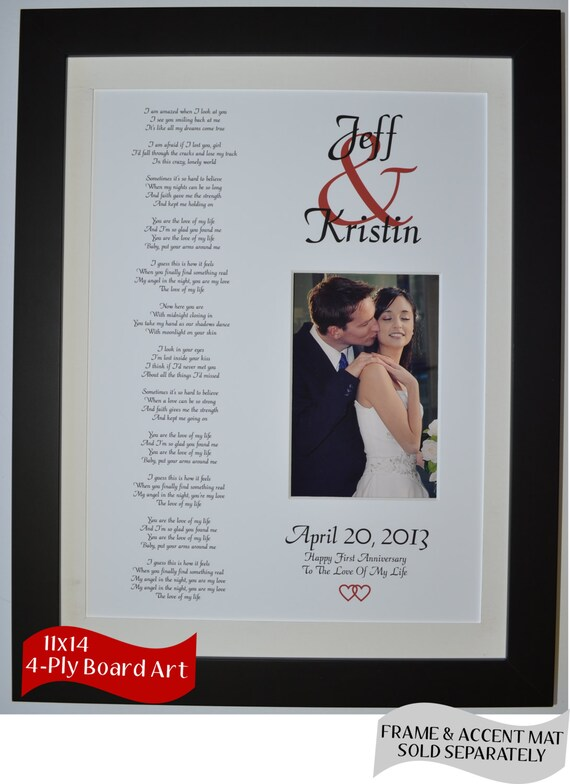 Happy First Anniversary Present Idea With Wedding By Picmats