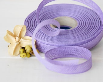 """Lavender Cotton Ribbon - 3 or 6 Yards of 100% Cotton Ribbon - 1/2"""" wide - Pastel Lilac Ribbon - Buy More and Save - Eco Friendly Ribbons"""