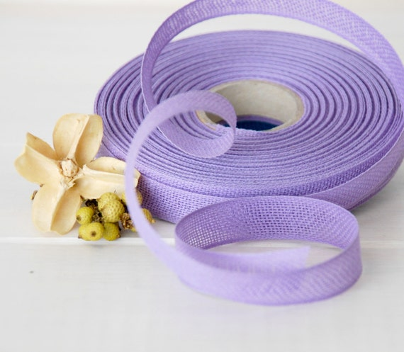 "Lavender Cotton Ribbon - 3 or 6 Yards of 100% Cotton Ribbon - 1/2"" wide - Pastel Lilac Ribbon - Buy More and Save - Eco Friendly Ribbons"