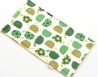 SALE || Burp Cloth || Turtles Green || Fleece Backing