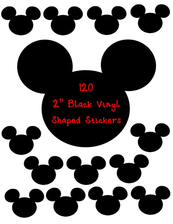 120 2 inch Black Shaped Stickers, Envelope Seals, Party Favors, Party Glasses, Unlimited Possiblities