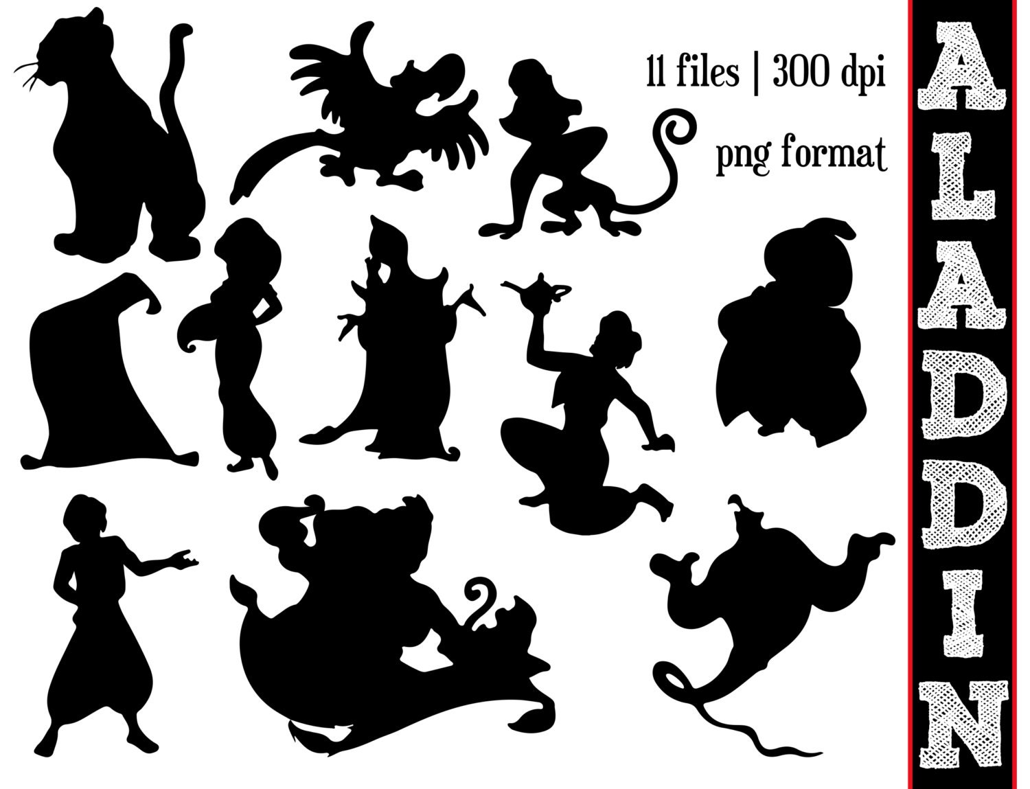 It's just a photo of Candid Disney Character Silhouettes