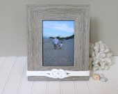 5x7 - Light Rustic Nautical Picture Frame - Rope Knot Decor