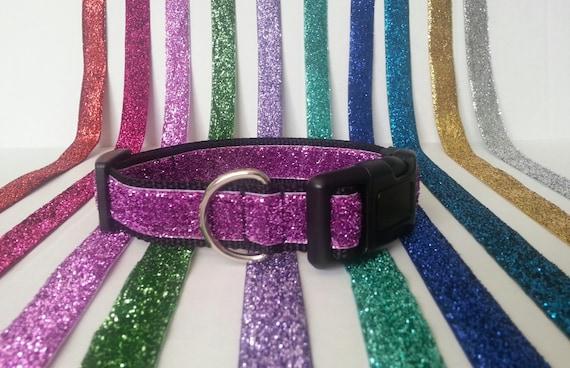 Glitter Dog Collar - Adjustable Dog Collar - Sparkly Dog Collar - Sparkles Dog Collar - Sparkle Dog Collar