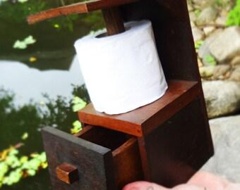 Wooden Toilet Paper Holder Etsy