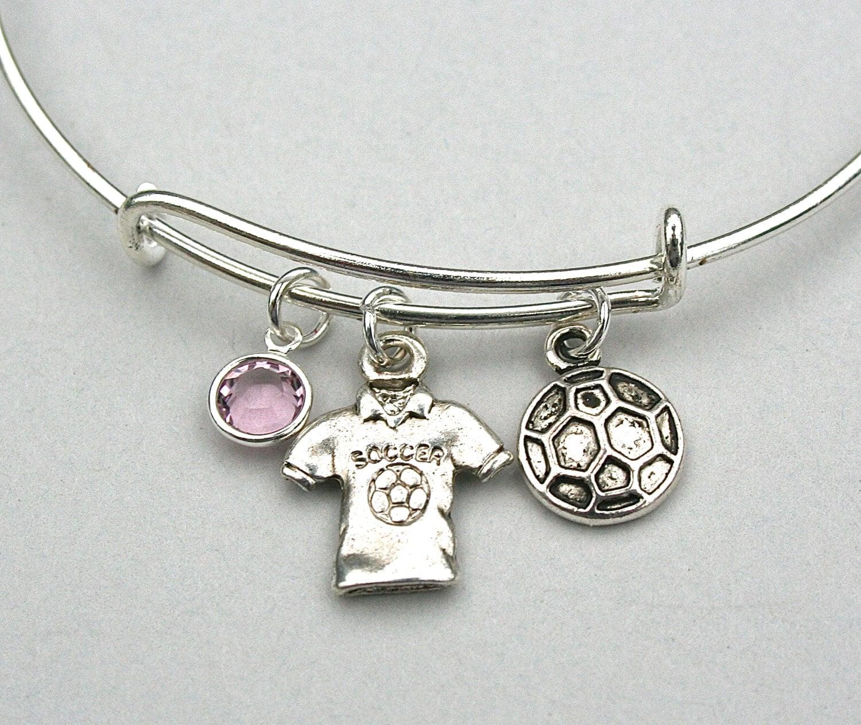 soccer charm bracelet soccer charm bangle soccer