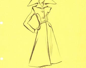 House of Pierre Cardin Original Vintage Fashion Sketch Stat Sheet 170