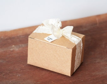 10 Kraft Paper Boxes 90x60x60mm / Favour Boxes / Gift Boxes / Hand Made Soap Packaging / Soap Boxes