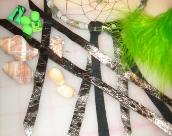 Dream Catcher Destash kit, parts will vary, assorted colors,prayer feather