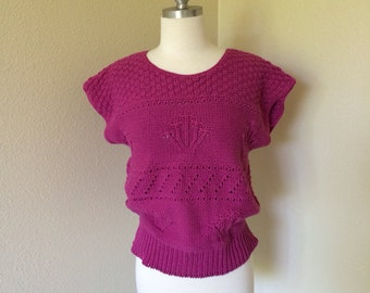 Knitted Pink Top