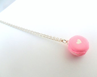 Macaron Sterling Silver Necklace, Kitsch Tiny pastel Macaroon, 925 Silver Chain, Lolita, Fairy Kei, Cute And Kawaii :D
