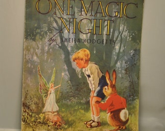 Vintage 1950s children's story book One Magic Night
