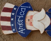 Patriotic Uncle Sam - 4th of July Decoration - Wood Yard Sign Art