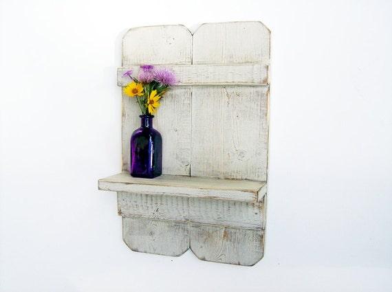 Items similar to bathroom decor wood wall shelf cottage shabby chic ba - Salle de bain shabby chic ...
