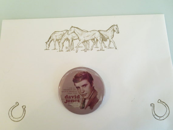 BUTTON - Davy's Angels - David Jones Forever Fan Club Member