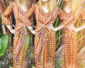 Vintage 1960s Indian Goddess Two Piece