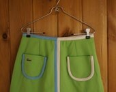 Vintage Lacoste Lime Green Knit MiniSkirt Haymaker Small Medium Skort Tennis Skirt