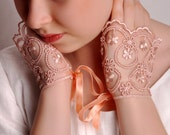 SUPER SALE! Bridal pink cuff, pink wedding accessories. Ready to shipping.