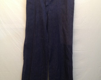 Women's Vintage 1960's / 70's High Waist Bell Bottom Jeans by Duck Head NOS Size 29 S