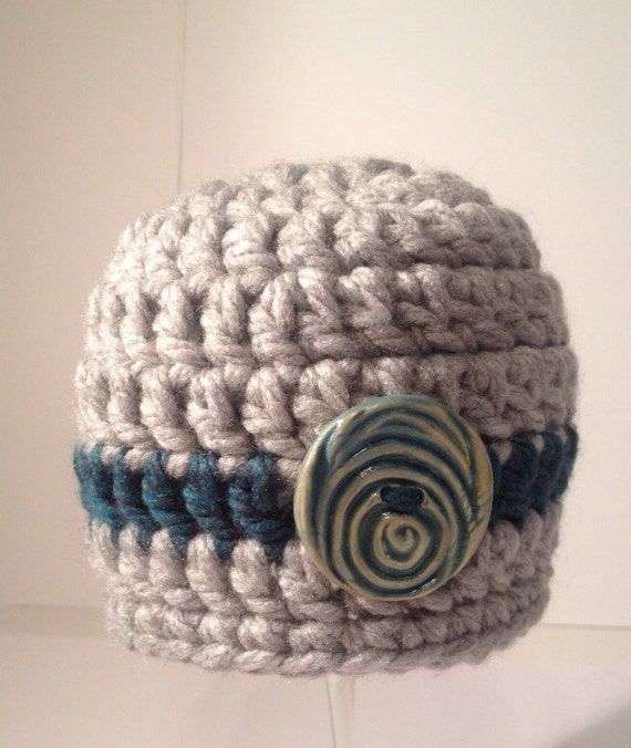 Easy Chunky Yarn Crochet Hat Pattern : Newborn Crochet Hat Chunky Yarn Beanie Knit CapBaby by ...