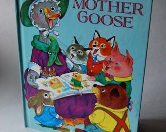 Vintage Children's Book, Richard Scarry's Mother Goose, A Golden Book