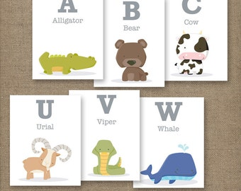 Alphabet Animal Flash Cards. PRINTABLE