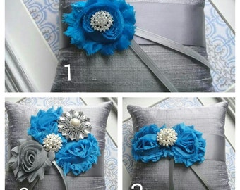 Modern Embellished Ring Pillow, Available In Three Styles,  Weddings, Ring Bearer Pillow, Bride