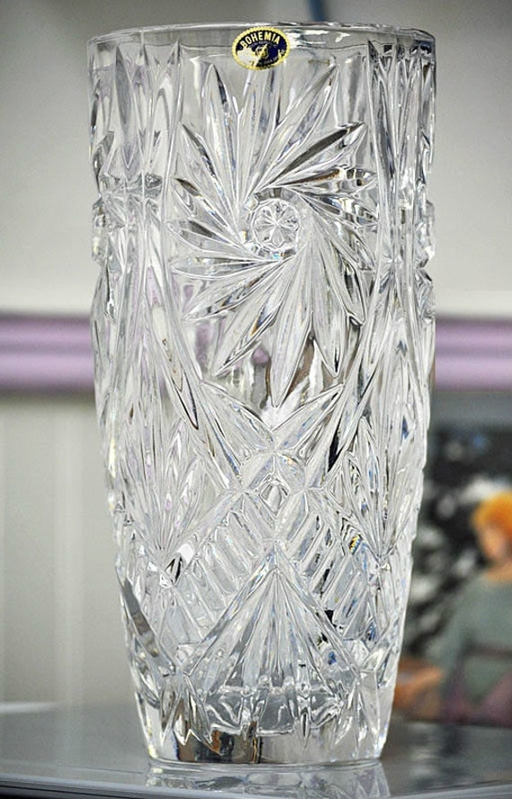 Exquisite Bohemia Czech Republic Lead Crystal Vase By