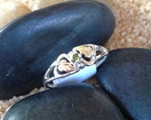 RESERVED FOR ANITA  and 12k Gold Peridot Ring (st - 739)