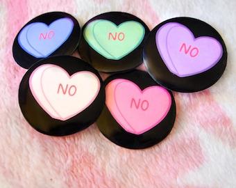 NO Bittersweet Heart pinback button