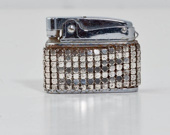 Vintage Pacton Ladies Cigarette Lighter - Whiting & Davis Style Mesh