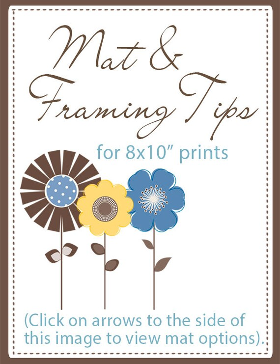 Mat And Framing Tips For 8x10 Prints Not For Sale