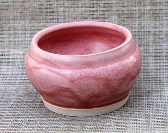 Rhubarb  Wheel Thrown Porcelain Bowl