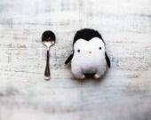 Fatsy Petsy primitive penguin stuffed animal toy plushie 5 inches baby shower gift, nursery decor