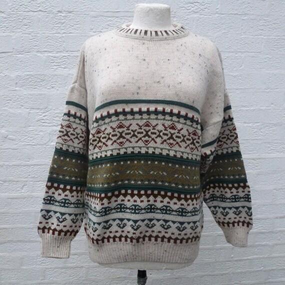 Jumper acryl wolle pullover fair isle jumper 90er jahre - Fair isle pullover damen ...